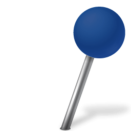 Map Marker Blau