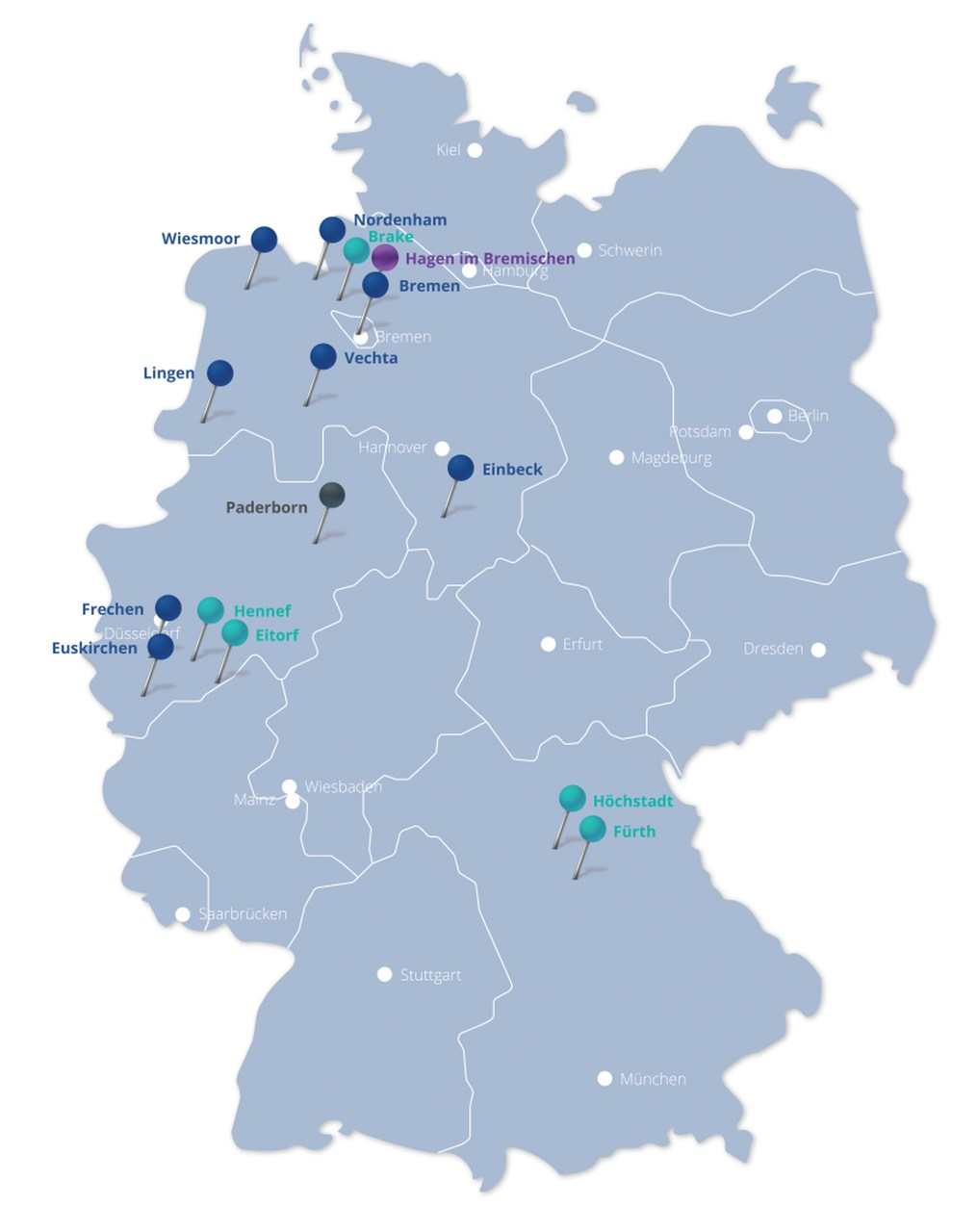 Operasan - Standorte