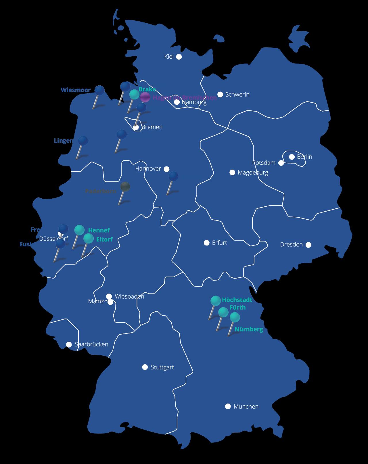 Operasan Standorte